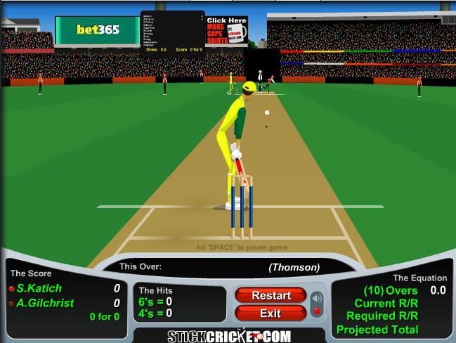 online stick cricket games