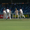 The scramble as Edmondson turns it down leg side