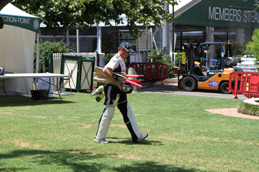 Ian Bell leaving training