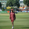 Brian Lara prepares for play.