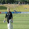 Scott Styris walking off after batting practice