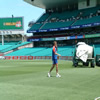 Liam Plunkett during fielding drills