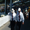 The umpires, Daryl Harper and Mark Benson