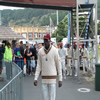 The Chris Gayle strut.