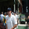 Kevin Pietersen and James Anderson walk out onto the field