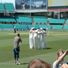 England team in a huddle