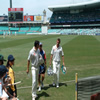 Sajid Mahmood & Liam Plunkett leave the field