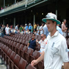 Andrew Strauss returns to the field after lunch