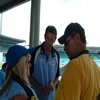 Glenn McGrath with a supporter