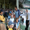 Glenn McGrath with supporters