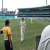 Paul Collingwood leaves the field