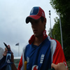 Alistair Cook after net practice