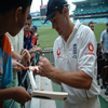 Ashley Giles signs some autographs