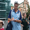 Glenn McGrath signing autographs outside the Sydney Cricket Ground