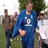 Steve Harmison returns from the pool