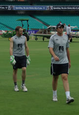Aaron Redmond and Tim Southee