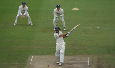 Ross Taylor smacks it down the ground