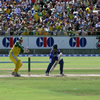 Mahela Jayawardene squirts one down to third man