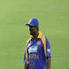 Muttiah Muralitharan in the field