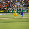 Adam Gilchrist flicks one down legside