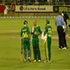 Boeta Dippenaar with Herschelle Gibbs and Dale Steyn