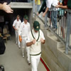 Australians heading out onto the field