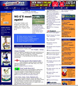 Cricket Web Design - 2004