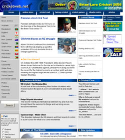 Cricket Web Design - 2005
