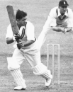 Vinoo turns the ball to leg as Len Hutton watches from slip
