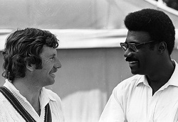 Ian Chappell and Clive Lloyd, opposing captains in the first ODI World Cup