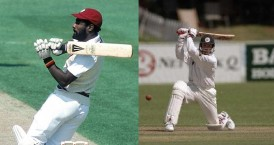 Viv Richards and Andy Flowers