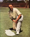 Don Bradman smiles for the camera prior to his Test farewell